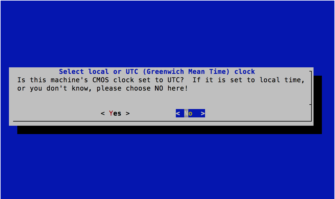 Time Zone Selector - UTC Time on CMOS - FreeBSD 11.0 Installer